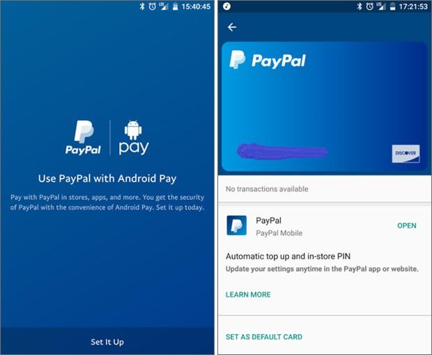 Alcuni utenti hanno iniziato a veder comparire la possibilità di aggiungere il proprio account PayPal come fonte di credito per effettuare i pagamenti in mobilità con la tecnologia NFC di Android Pay