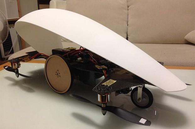 Un modello in scala di Skydrive, il mezzo volante progettato dalla startup Cartivator e sostenuto economicamente da Toyota