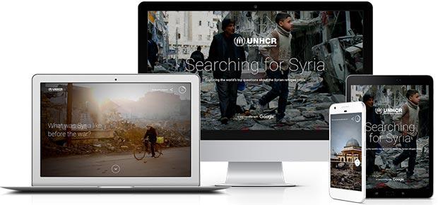 Il portale Searching for Syria è accessibile da qualsiasi dispositivo