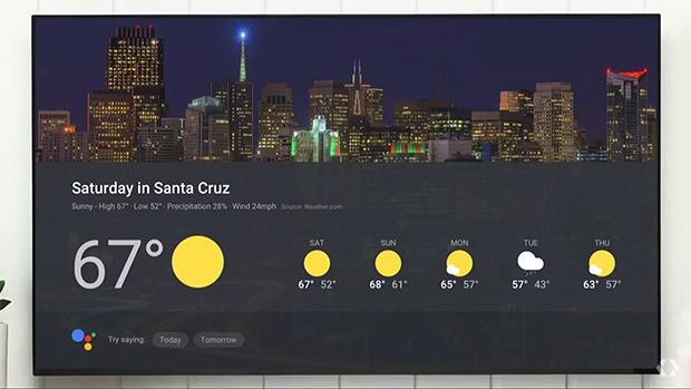La Visual Responses di Google Home possono mostrare sul televisore le informazioni chieste a voce, ad esempio sulle previsioni meteo