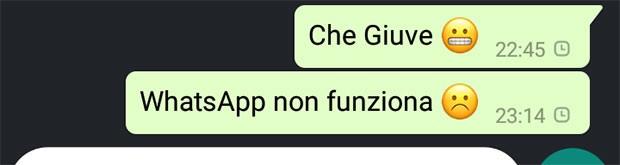 Niente da fare: questa sera non c'è modo di festeggiare la vittoria della Juve su WhatsApp