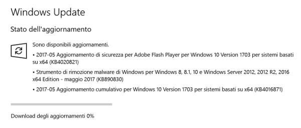 Patch Tuesday, nuovo aggiornamento per Windows 10