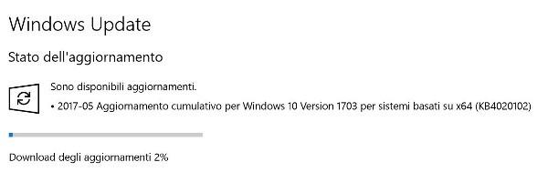 Microsoft aggiorna Windows 10 Creators Update