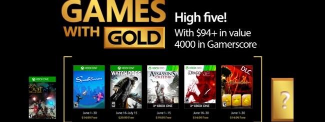 Microsoft svela i Games with Gold di giugno 2017