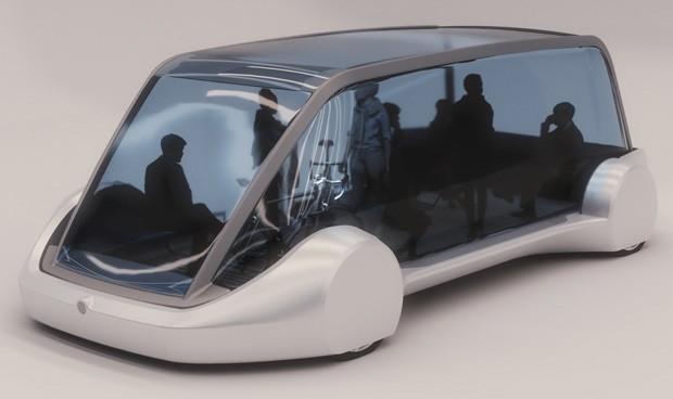 Uno dei vettori che trasporteranno i passeggeri all'interno della rete di tunnel