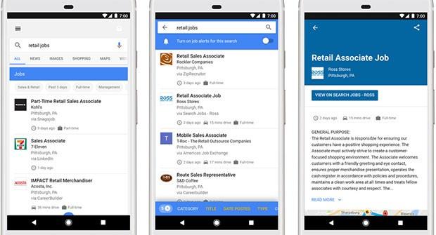 Google for Jobs mette in contatto i datori di lavoro con i potenziali nuovi dipendenti attraverso il motore di ricerca
