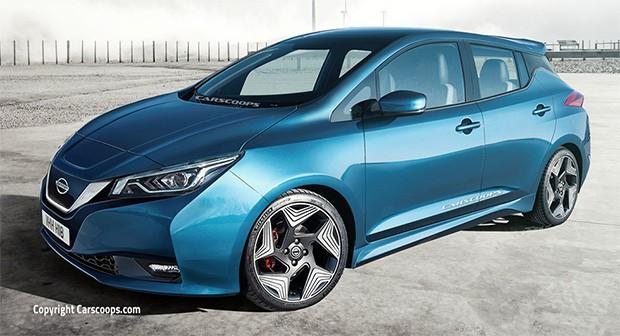 Un render non ufficiale per la nuova versione dell'auto elettrica Nissan Leaf