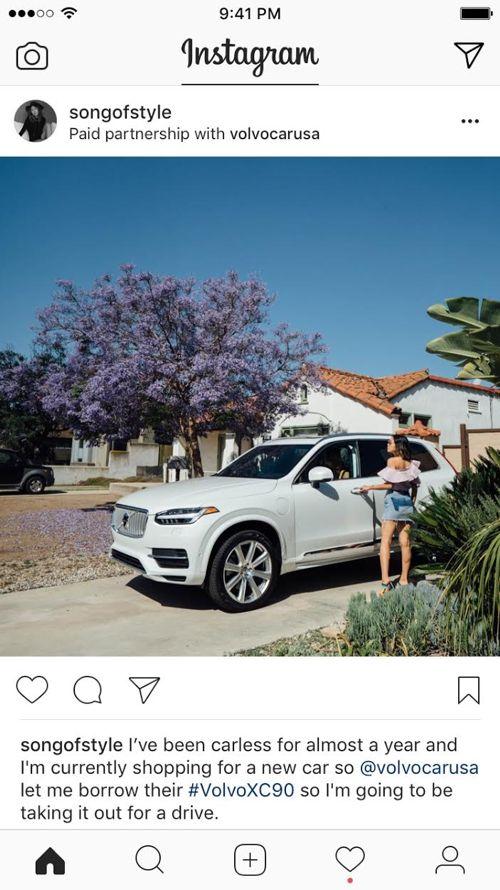 Sponsored by, su Instagram