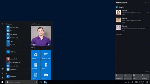 LinkedIn per Windows 10