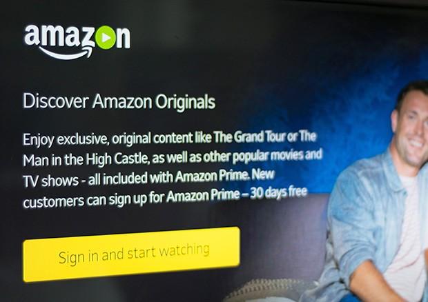 La schermata che dà il benvenuto su Amazon Prime Video