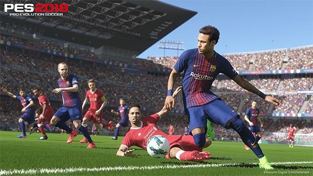 I campioni del Barcellona in campo per Pro Evolution Soccer 2018