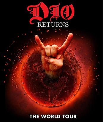 La locandina di Dio Returns, il tour mondiale che riporterà in vita e sul palco la rockstar Ronnie James Dio, grazie a un ologramma
