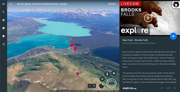 Riprese in diretta da tutto il mondo, accessibili direttamente da Google Earth