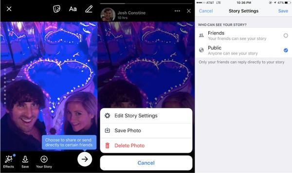 Facebook, le Storie diventano pubbliche