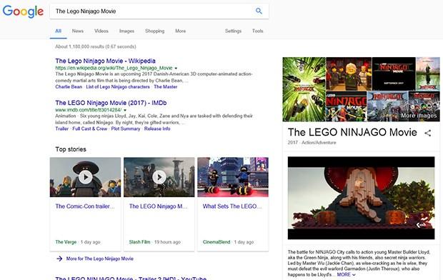 La funzionalità di autoplay video introdotta da Google nelle SERP (al momento sperimentale) riproduce in automatico i trailer dei film cercati