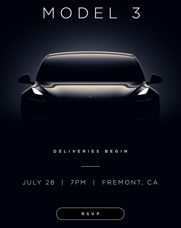 Tesla spedisce gli inviti per il lancio di Model 3