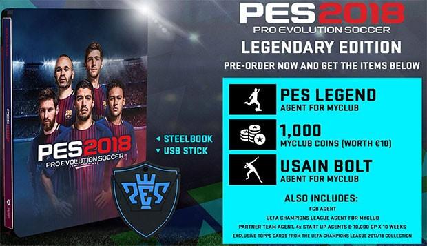 I contenuti della Legendary Edition di PES 2018, disponibili per chi acquista il gioco durante la fase di pre-ordine