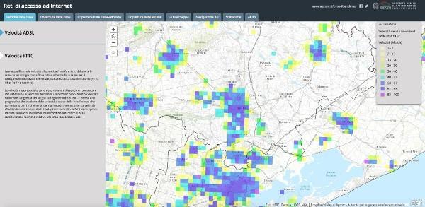 AGCOM presenta la prima Broadband map italiana