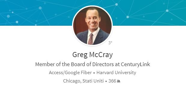 Il profilo professionale di Gregor McCray