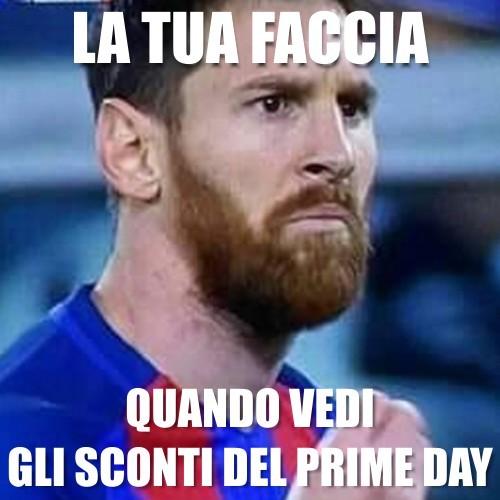Messi nel suo classico meme