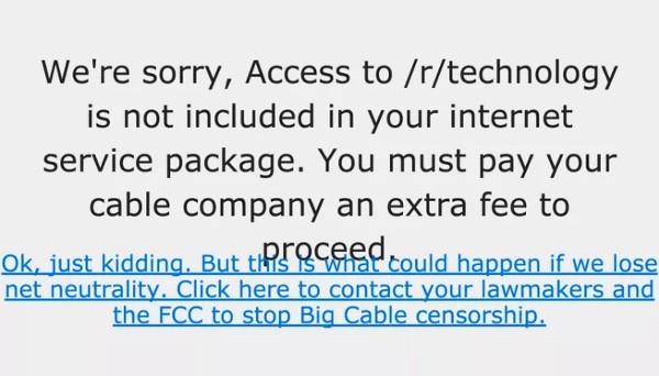 I giganti del tech supportano la net neutrality - Reddit