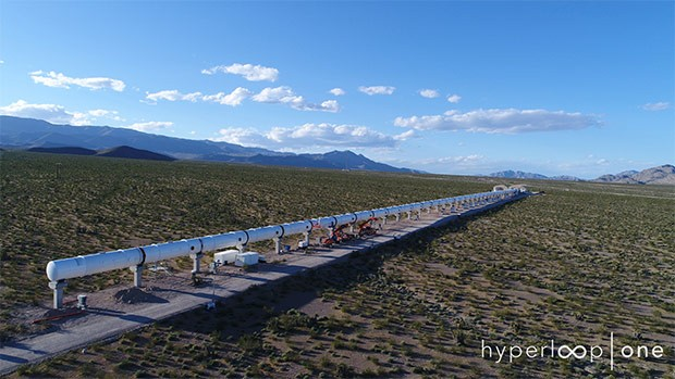 Il test track di Hyperloop One, chiamato DevLoop, installato in Nevada