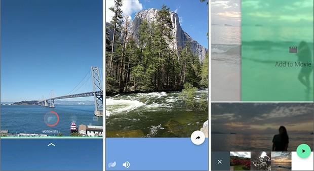 Screenshot per l'applicazione Motion Stills in esecuzione su uno smartphone Android