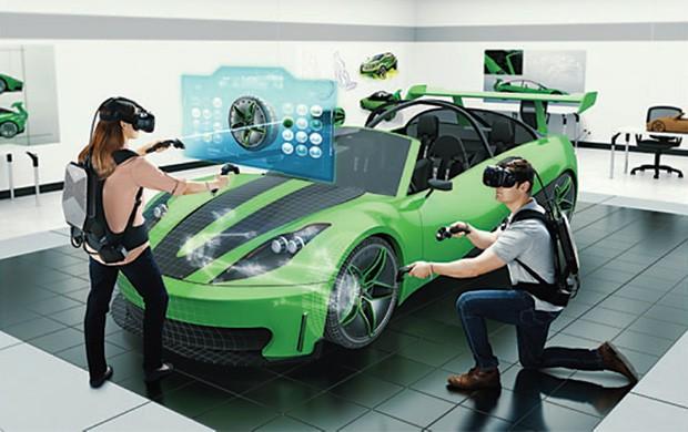 Lo zaino HP Z VR Backpack G1 Workstation per la realtà virtuale in azione