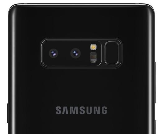 Il lettore di impronte digitali del Samsung Galaxy Note 8.