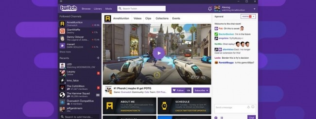 Twitch per desktop