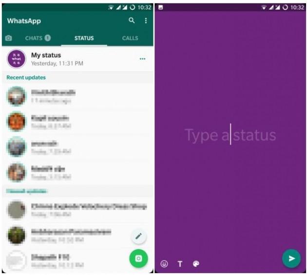 WhatsApp - Sfondo colorato Stato