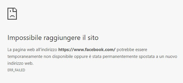 Facebook è inaccessibile