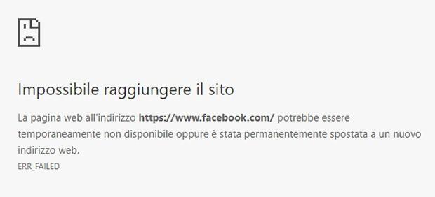 Facebook è inaccessibile