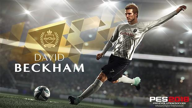 David Beckham è tra le leggende di PES 2018