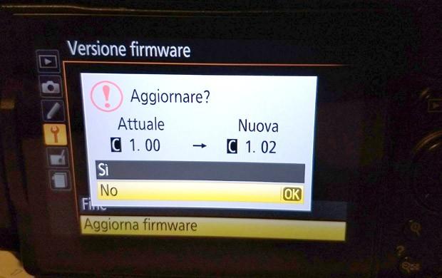 Nikon D5300: aggiornamento firmware alla versione 1.02