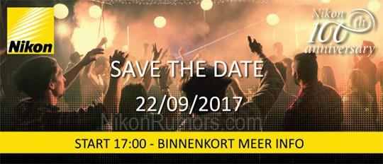 L'invito per l'evento del 22 settembre inviato da Nikon: possibile la presentazione della D850