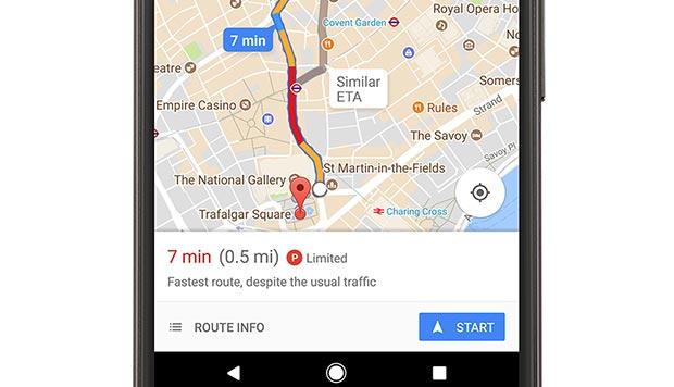 L'indicazione offerta da Google Maps sulla difficoltà nel trovare parcheggio (stimata) una volta giunti a destinazione