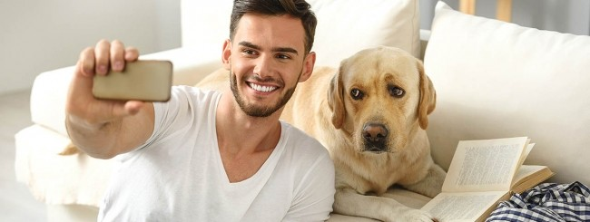 Selfie con cane