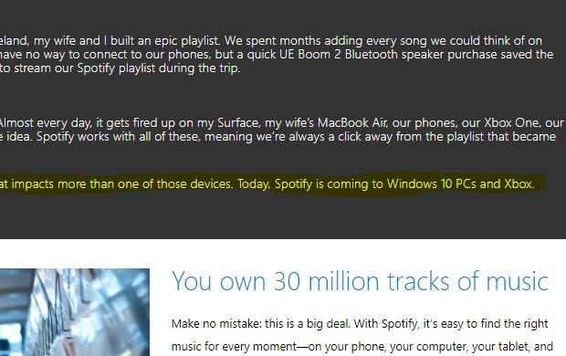 Un'ennesimo indizio in merito all'arrivo di Spotify su Xbox One
