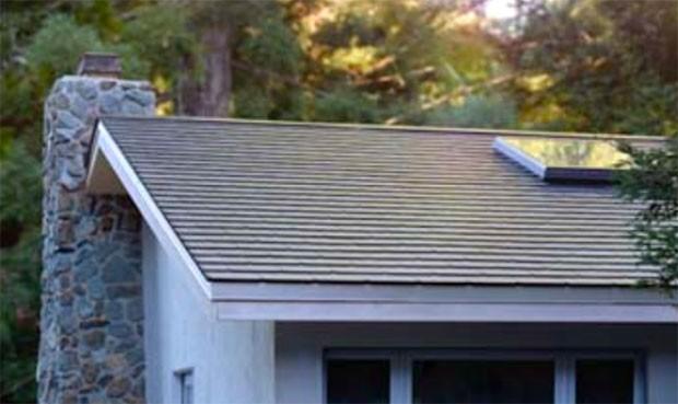 Il Solar Roof di Tesla installato su un'abitazione
