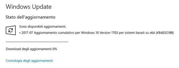 Windows 10, nuovo update cumulativo da Microsoft