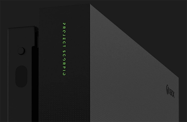 Xbox One X Project Scorpio Edition, un dettaglio del design