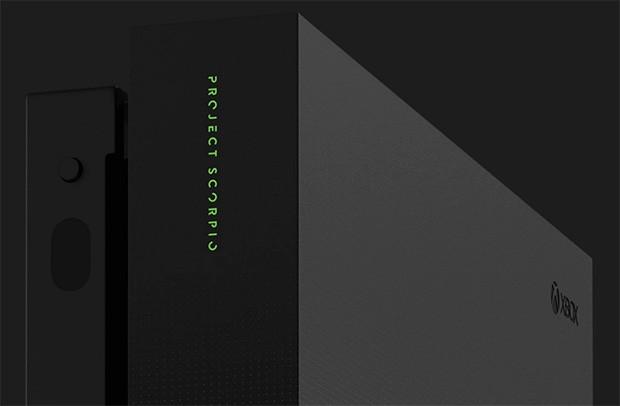 Xbox One X Project Scorpio Edition, un dettaglio del design