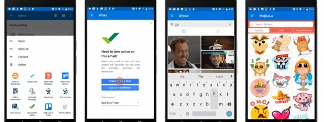 Outlook add-in Android