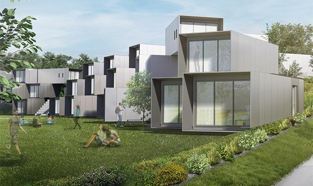 Gli alloggi modulari riservati agli studenti del Dyson Institute of Engineering and Technology