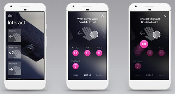 È possibile configurare il comportamento della giacca, tramite un'app su smartphone