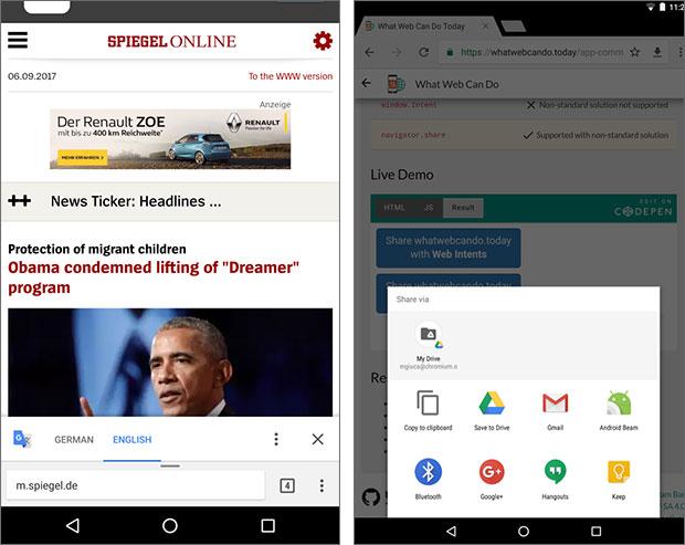 Le novità introdotte da Google nella versione 61 di Chrome per Android