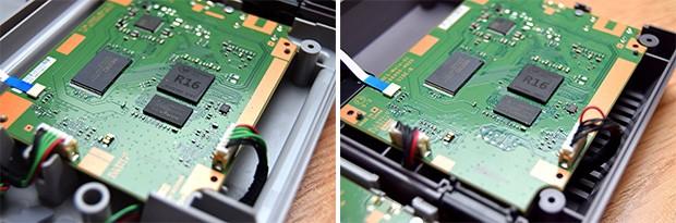 Il comparto hardware di SNES Mini (a sinistra) e quello del predecessore NES Mini (a destra): sono identici