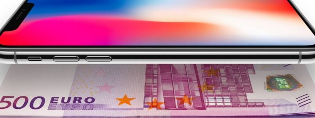 iPhone X, 1000 euro