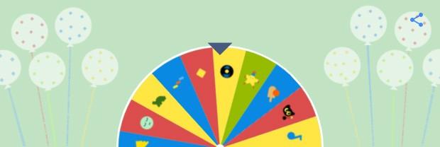 """La """"ruota della fortuna"""" realizzata da Google per il suo 19esimo compleanno rimanda ai migliori vecchi doodle pubblicati sulla homepage del motore di ricerca"""